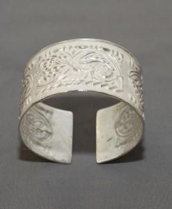 bracciale in argento motivo pavone