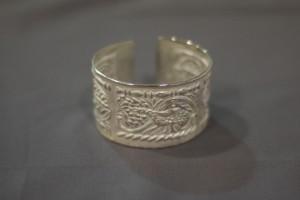 Bracciale in argento motivo pavoncella