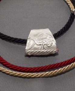 pendente in argento motivo pavone