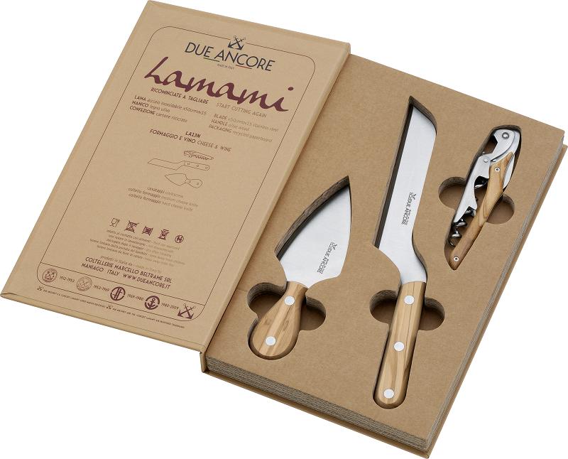 coltelli formaggio e cavatappi