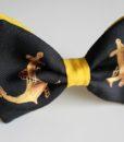 papillon in seta nera e gialla