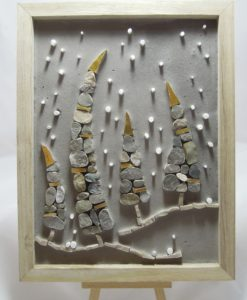 quadretto con paesaggio in mosaico