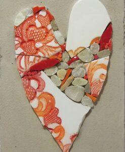 quadretto con cuore in mosaico