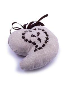 cuscinetto a cuore ecrù