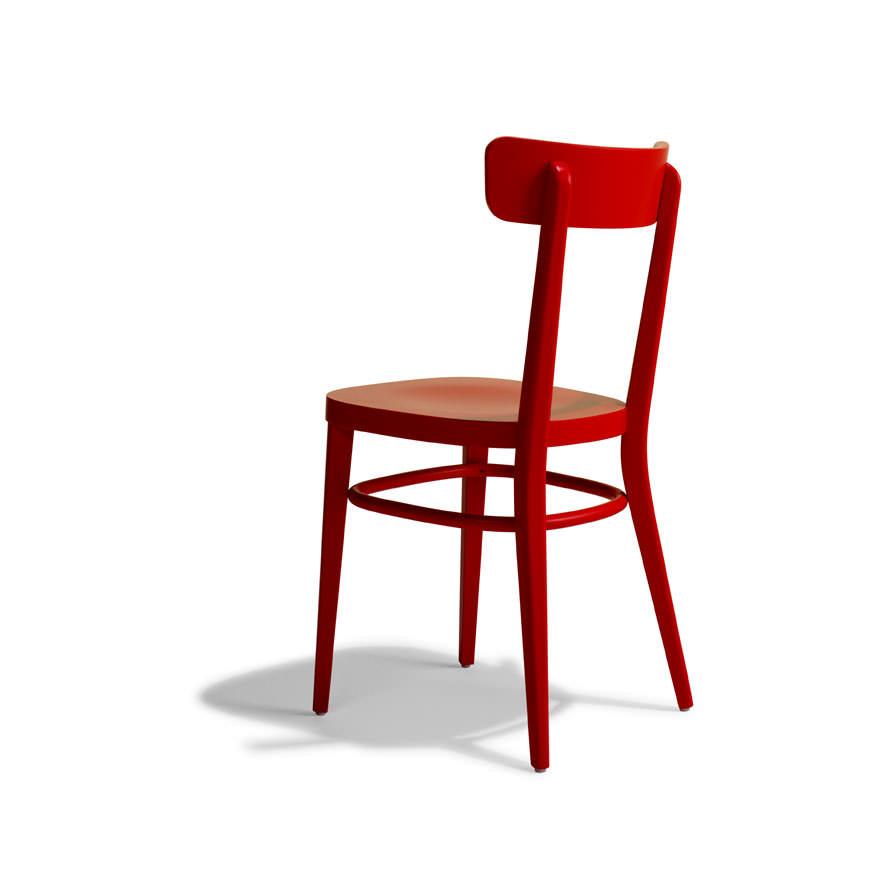 Sedia colorata modello Milano in rosso La Cort Store