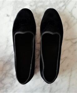 scarpets velluto nero