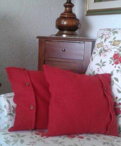 copricuscino lana cotta rosso
