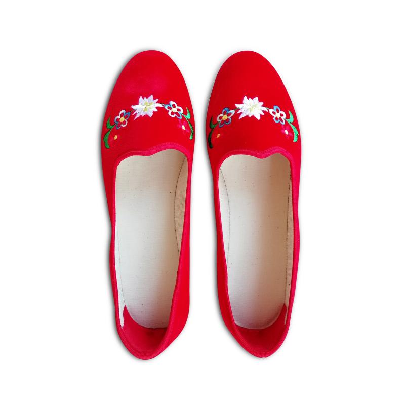 scarpets rossi ricamati