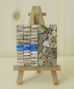 quadretto a mosaico con sassi