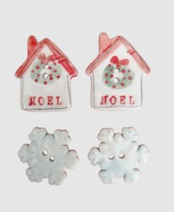 bottoni in ceramica natalizi