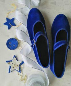 scarpets in blu con cinturino