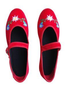 scarpets_rosso_ricamo_cinturino