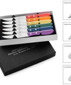 coltelli manico legno colorato Antonini