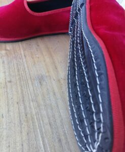 Scarpets rosso dettaglio