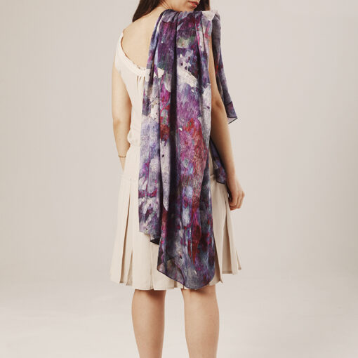 foulard_lilla_flors_indossato